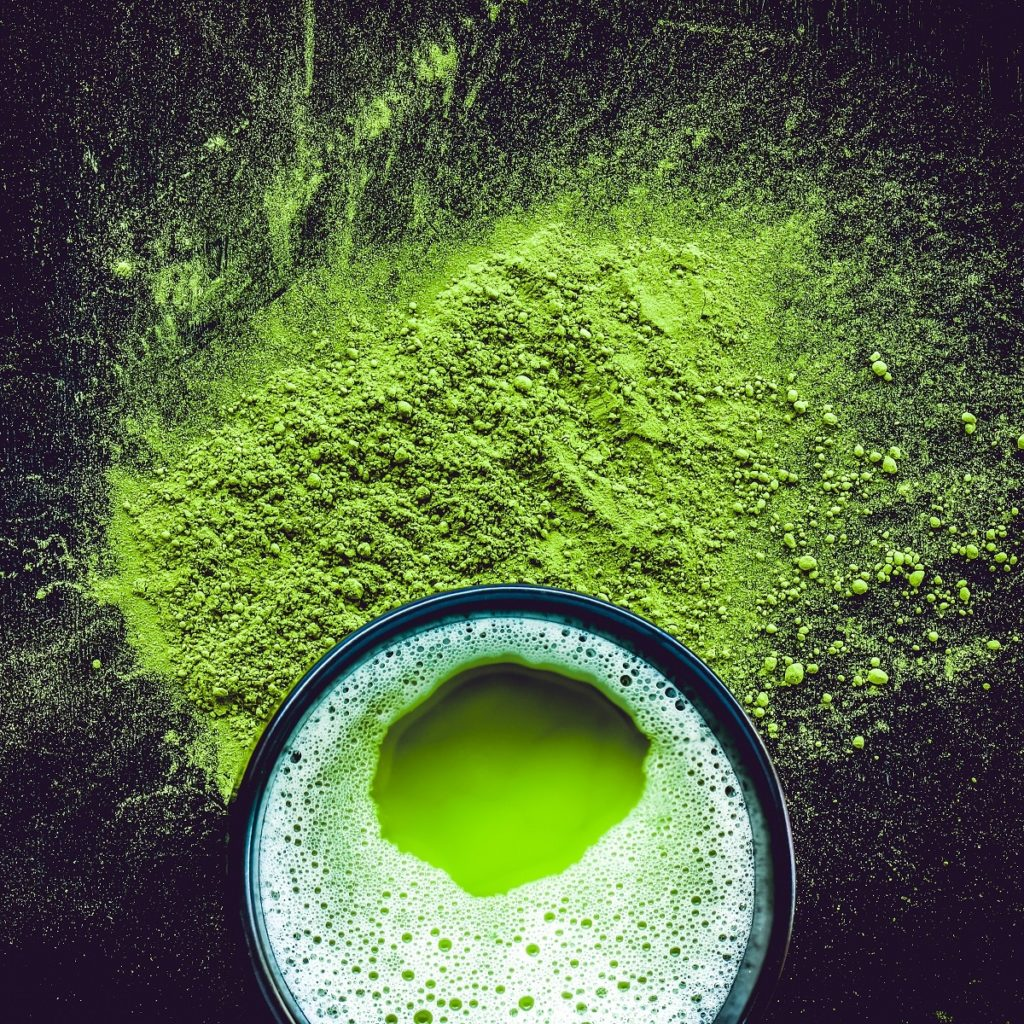 Chawan and matcha tea