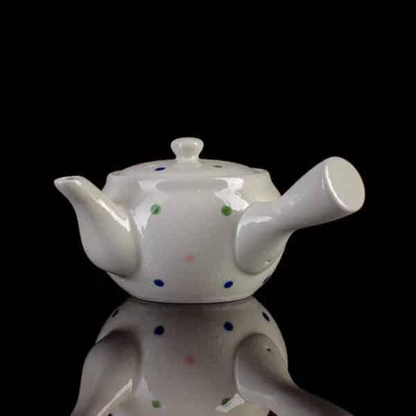 "Чайник кюсу белый фарфор ""Горох"", 350 мл"