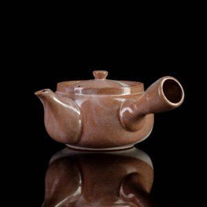 """Чайник кюсу коричневый """"Цветочные мотивы"""", 400 мл."""